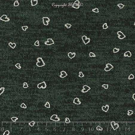 Tricot Maille Métallisé Coeur BLOOM LITE - Vert