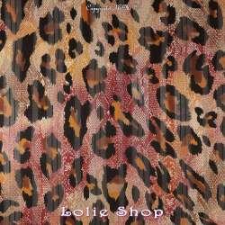 tissu Crépon Polyester Or Motif Léopard